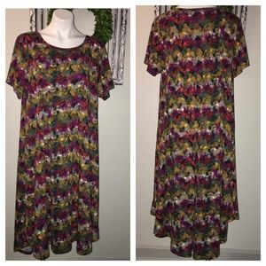 LuLaRoe Carly Abstract Print High-Low Dress 2XL